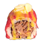 Maki bief carpaccio kaas