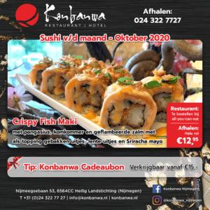 Konbanwa Sushi v/d Maand Oktober 2020