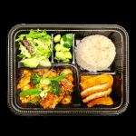 Kip menu met witte rijst