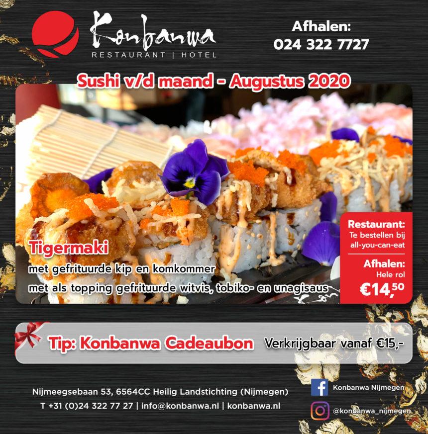 Sushi v/d maand augustus 2020