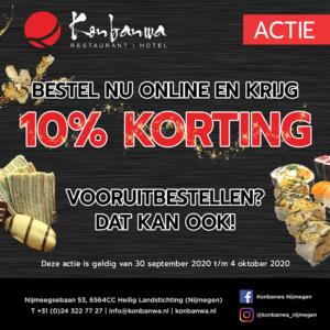 Konbanwa actie week 40, 2020: 10% Korting