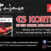 5 euro nazomer korting bij Konbanwa