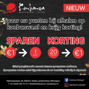 Punten sparen bij Konbanwa