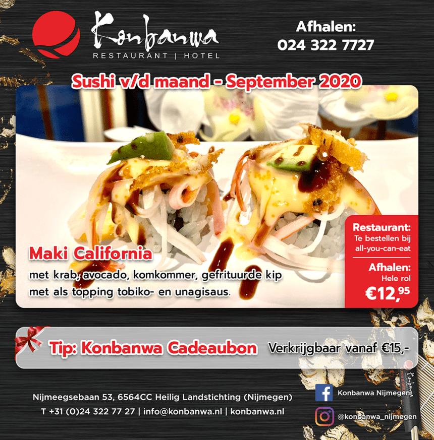Konbanwa Sushi v/d Maand September 2020