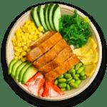 Poké bowl kip